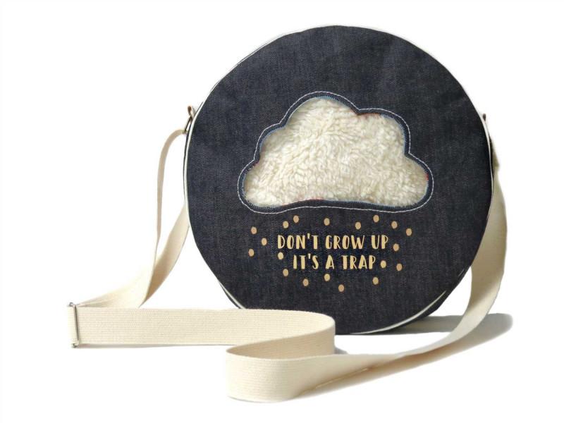 Wolkentasche Schnittmuster Rundtasche vom Taschenspieler 5