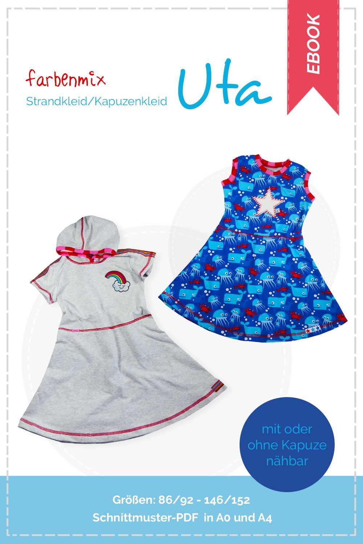 Schnittmuster zum Downloaden Jerseykleid Strandkleid Uta | farbenmix