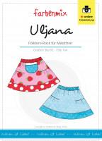 Papierschnittmuster Kinderrock Uljana im Folklore-Look Gr. 86-164