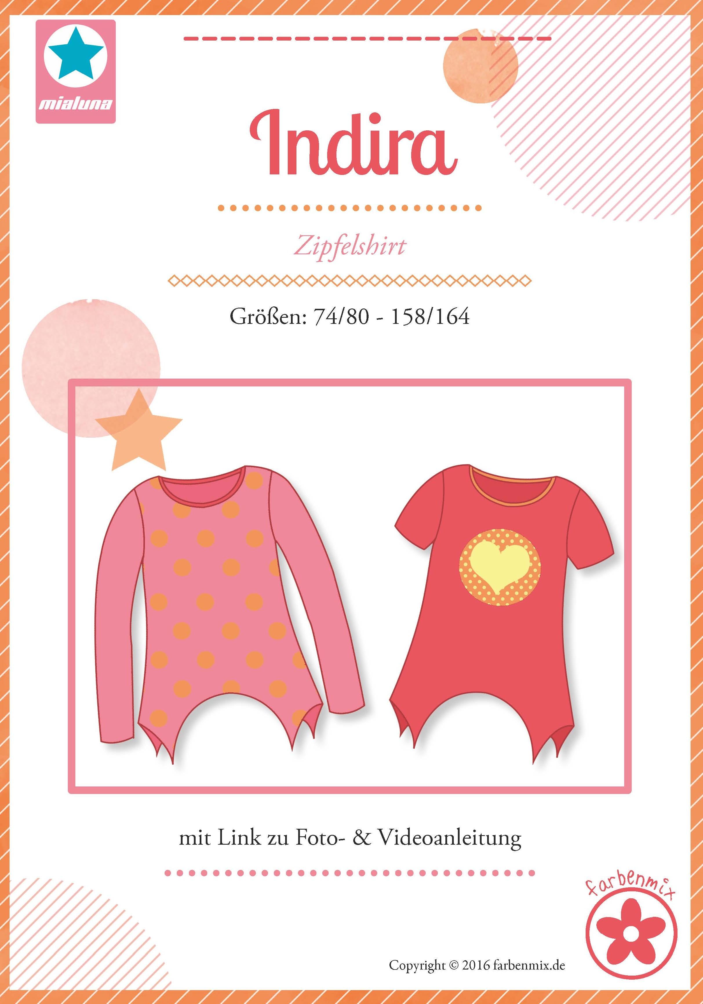 Indira, Zipfelshirt, Papierschnittmuster | Kinderschnitte ...