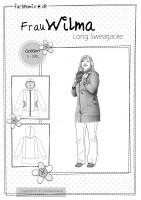 FrauWILMA, Damen-Sweatjacke, Papierschnittmuster