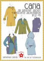 Carla, Allwetter-Jacke für Damen, Papierschnittmuster
