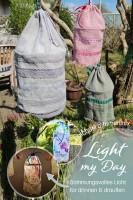 """Lampenschirme aus Stoff selber nähen mit dem Ebook """"Light my Day"""" von farbenmix."""