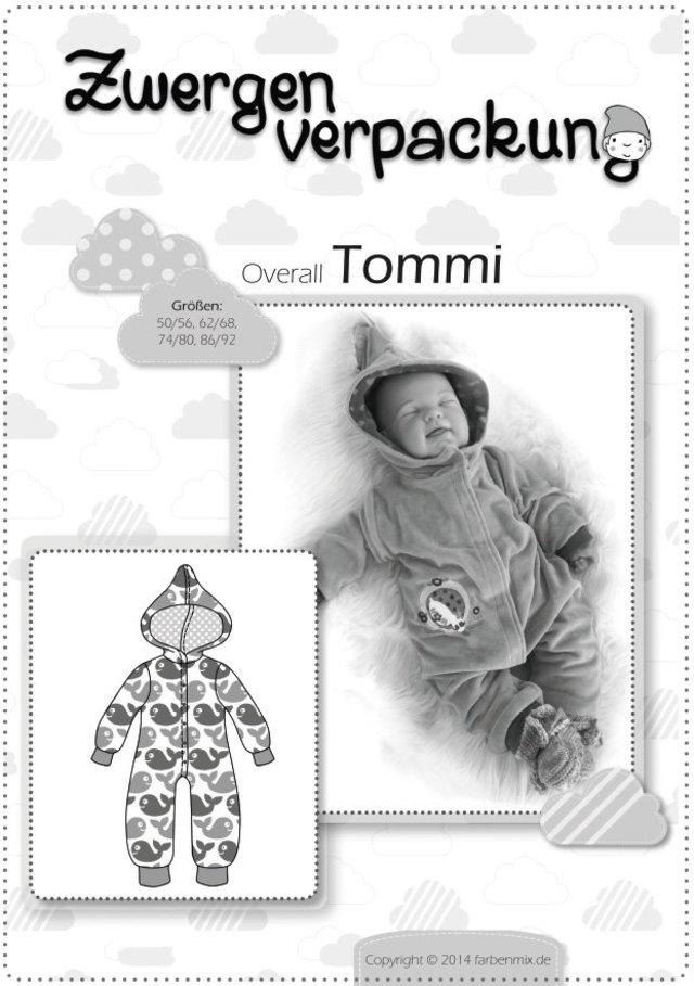 Babyoverall Tommi Papierschnitt   farbenmix
