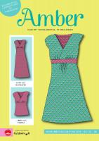 Amber, Kleid mit Wickeloberteil, Papierschnittmuster