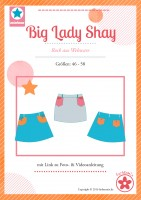 Big Lady SHAY, Plus-Size-Damenrock, Papierschnittmuster