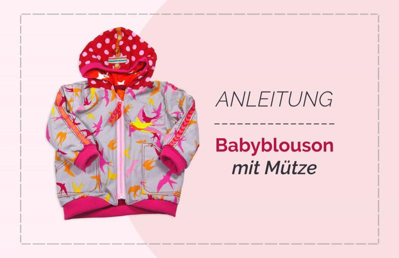 """Schnittmuster Babyjacke Babyblouson """"Carli"""" mit Mützen Schnitt von farbenmix"""