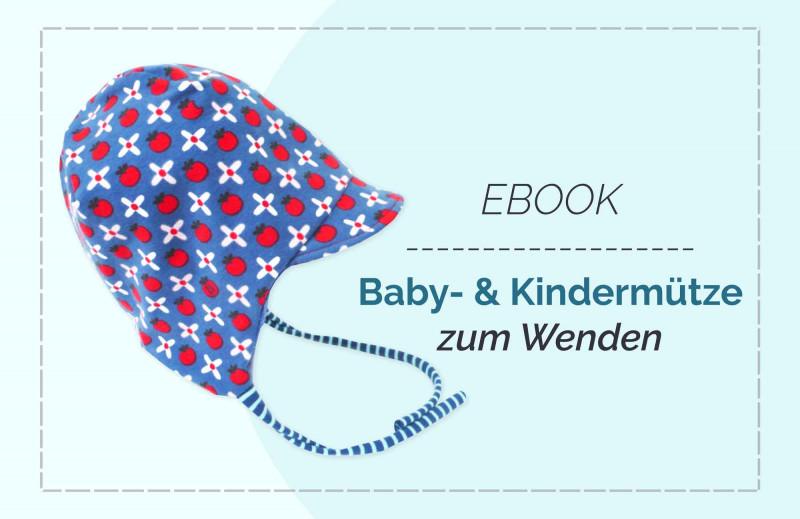 Babymütze (0-6 Jahre) aus Jersey - Nähanleitung und Schnittmuster zum Downloaden