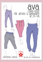 AVA, Chino-Hose für Damen, Papierschnittmuster