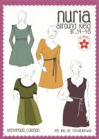 Nuria, Allround-Kleid für Damen, Papierschnittmuster