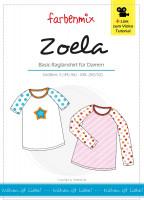 ZOELA, Damen-Raglanshirt, Papierschnittmuster