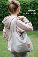 Taschenschnitt Schultertasche Änne inkl. Nähanleitung von Puschenhexe