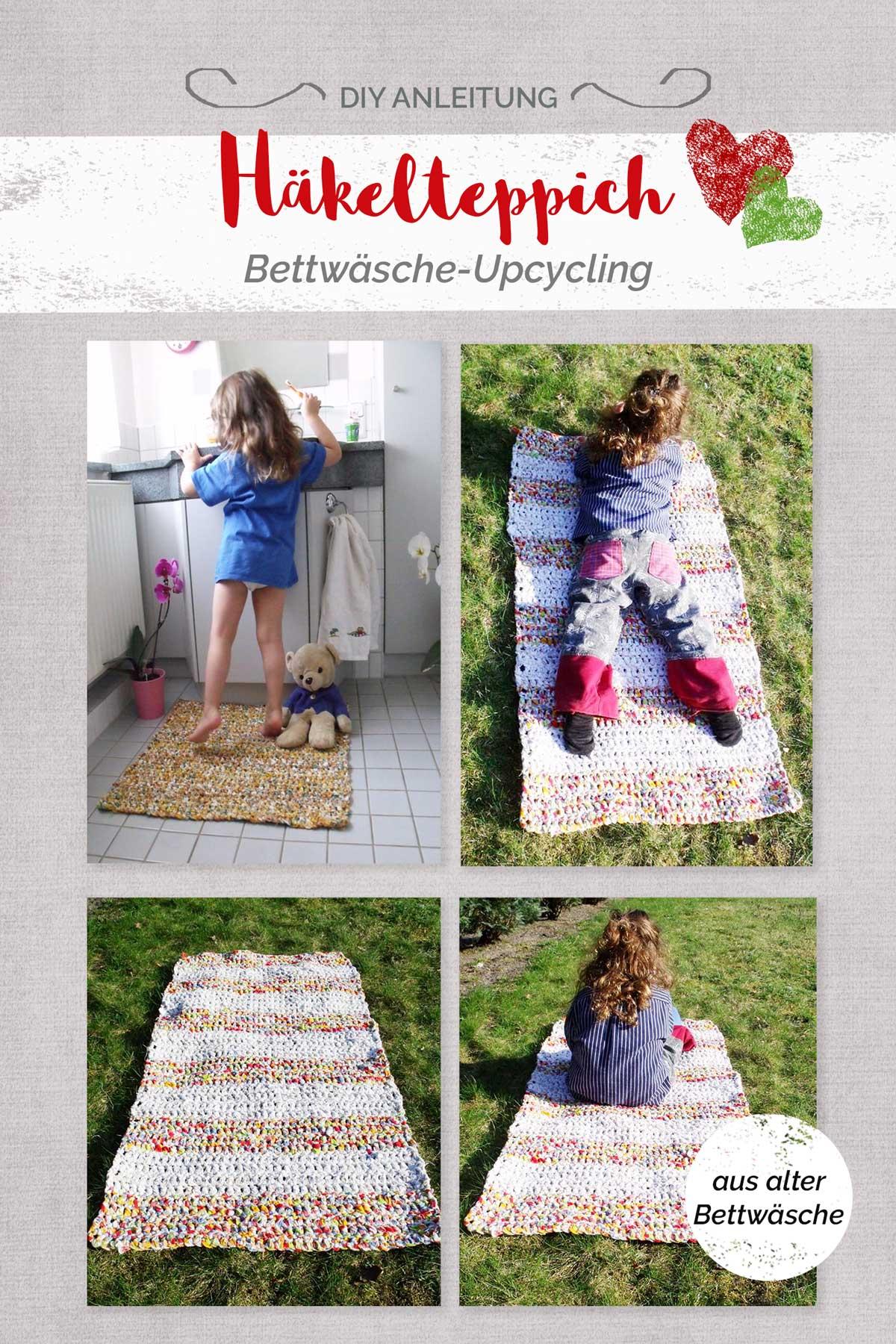 Relativ Häkelteppich DIY Anleitung Bettwäsche Upcycling | farbenmix SS94
