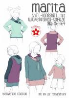Marita, Shirt mit Wickelkragen, Papierschnittmuster