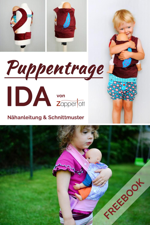 Puppentrage Nähanleitung und Schnittmuster | farbenmix