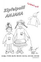 ANJANA, Zipfelpulli, Schnittmuster