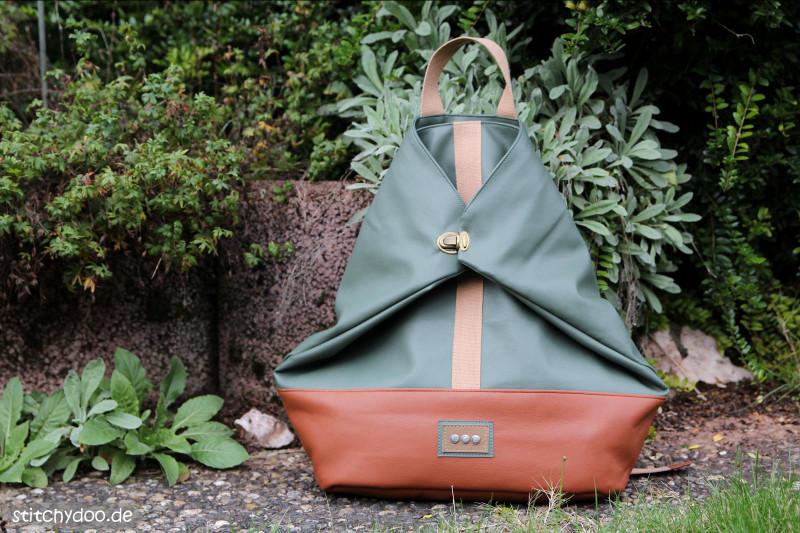 Crossbag 2 Rucksack vom Taschenspieler 5 aus Kunstleder