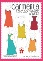 CARMELITA, Racerback Shirt Kleid, Papierschnittmuster