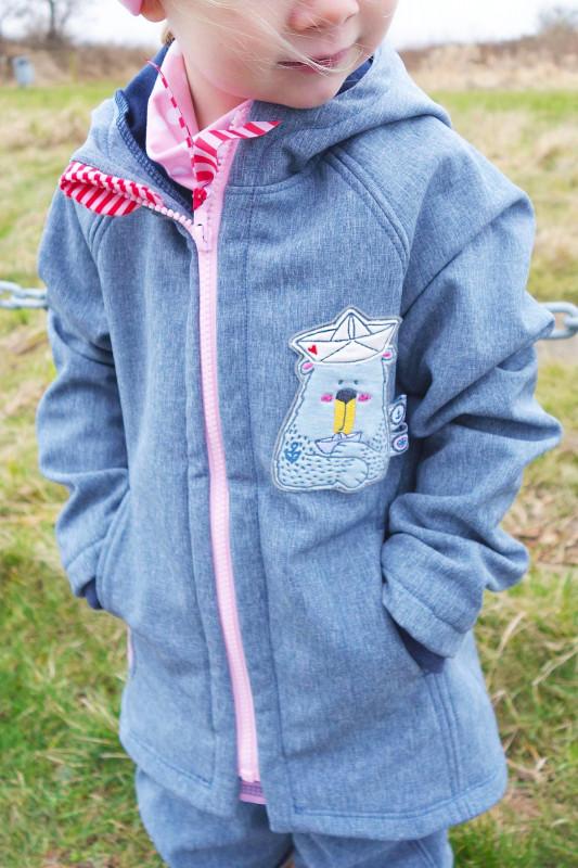 Kinder Softshelljacke nähen - Schnittmuster Philippa von Farbenmix