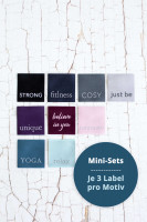3er-Set, JustBe-Label-Set, Etiketten zum Aufnähen strong 3er Set