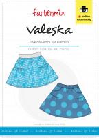Papierschnittmuster Damenrock Valeska süß gerafft mit Taschen
