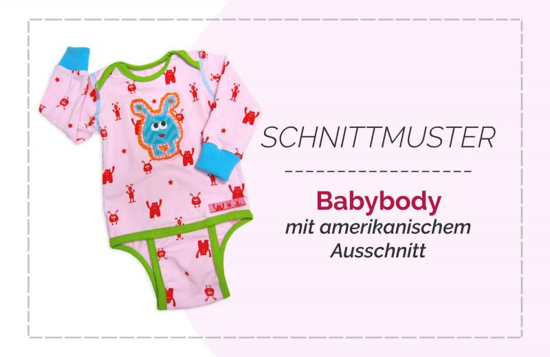 "Baby Schnittmuster ""MiniBasics"" mit Body, Hose, Mütze, Shirt - mit Nähanleitung"
