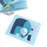 Elefant Aufnäher farbenmix