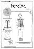 BENDIXA, Mädchen-Kurzarmbluse, Papierschnittmuster