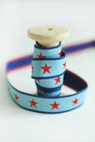 Webband Sterne Rot Hellblau farbenmix Design