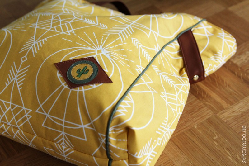 Carrybag Gelb mit Ledergurten