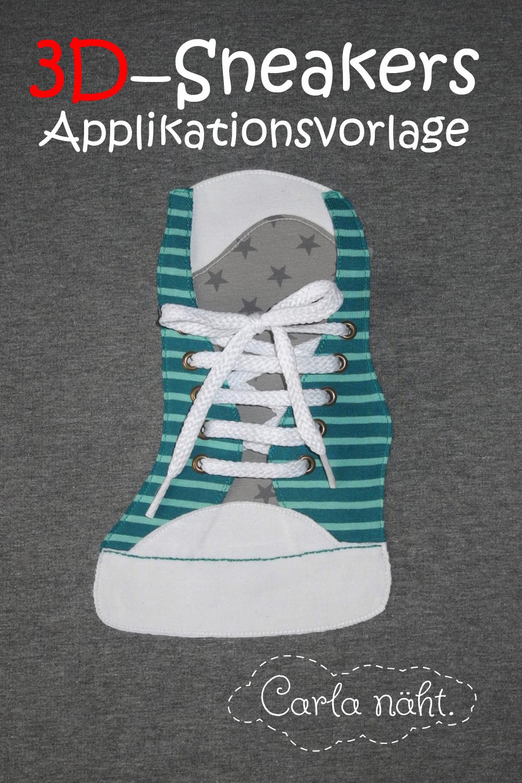 Applikationsvorlage Sneaker, Kreativ-FREEbook | farbenmix