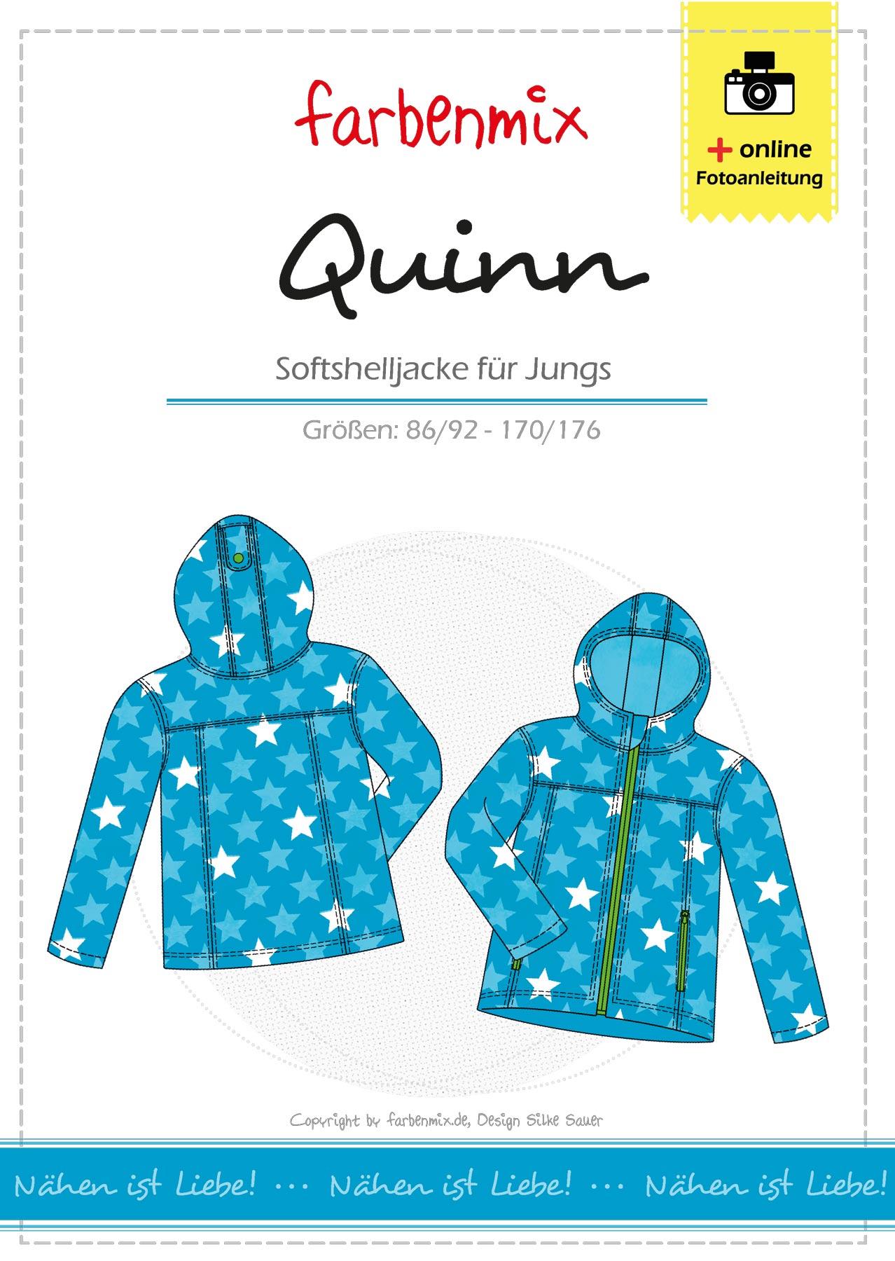 Details für tolle Passform neue Version QUINN, Softshell-Jacke, Schnittmuster