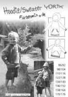 YORIK, Oversize Kapuzensweater, Papierschnittmuster