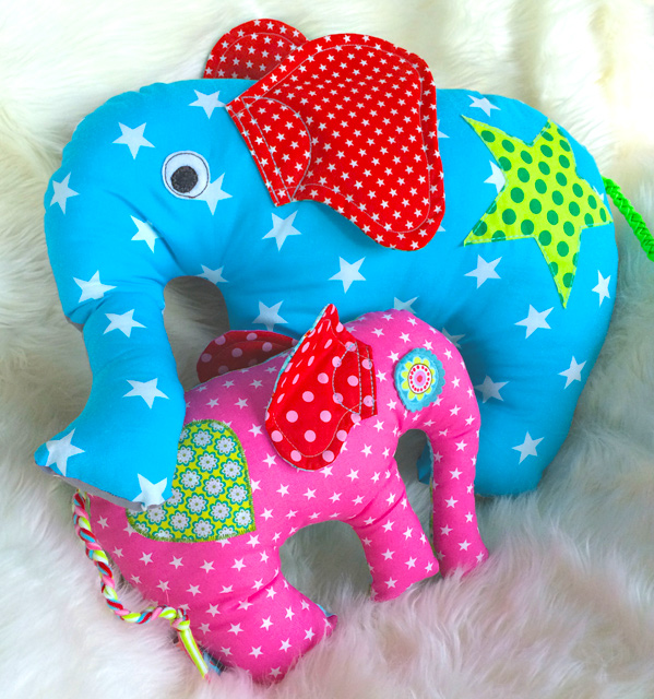 Schnittmuster Elefant mit kostenloser Nähanleitung | farbenmix